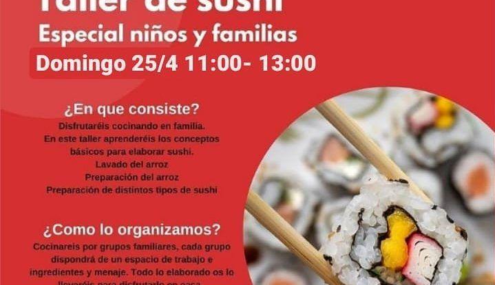 Taller de cocina en familia especial sushi con Cooking Málaga