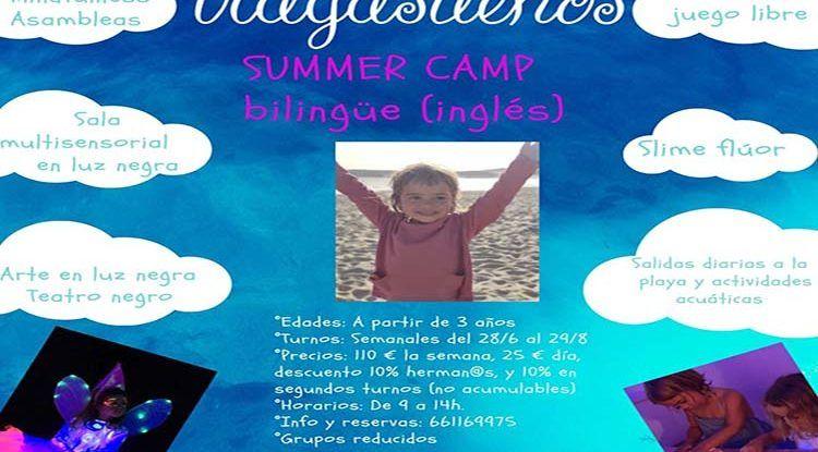 Campamento de verano bilingüe en sala Tragasueños (Málaga) con teatro, mindfulness y actividades acuáticas