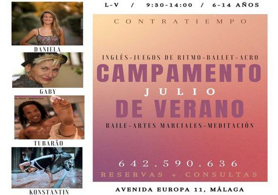 Campamento de verano en la escuela Contratiempo (Málaga): baile, artes marciales y meditación
