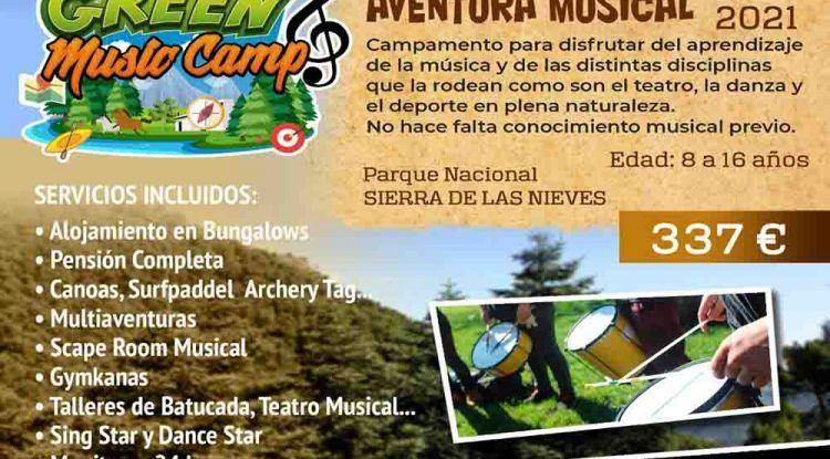 Campamento musico-deportivo para niños y adolescentes en el Parque Natural Sierra de las Nieves