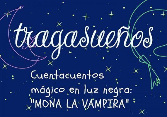 Cuentacuentos infantil mágico en luz negra en Málaga con Tragasueños