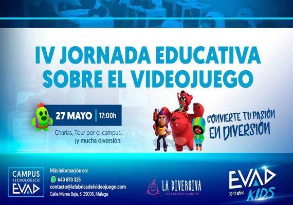 Jornada educativa gratis sobre el videojuego para padres y niños en el Campus Tecnológico EVAD