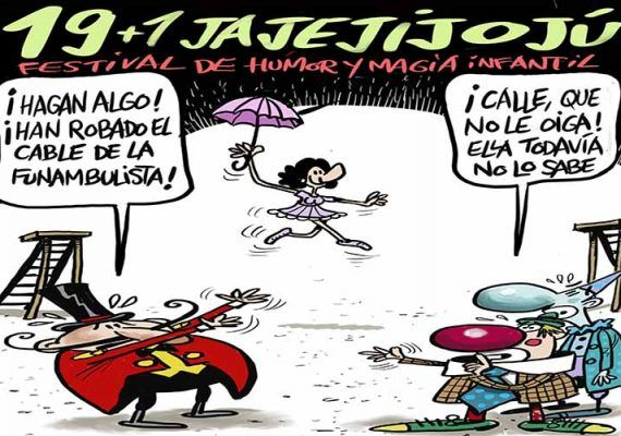 El Festival de Humor y Magia Infantil Jajejijojú celebra su gala 19+1 en el Teatro Cervantes de Málaga