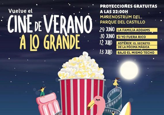 Cine de verano gratis en Fuengirola para toda la familia