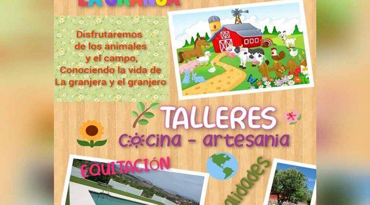 Escuela de verano infantil en La Granja del Aula de la Naturaleza (Pizarra)