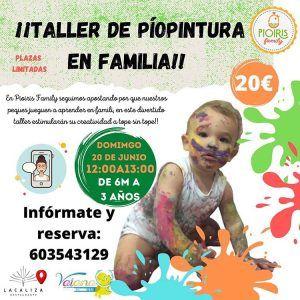 Taller de piopintura en familia con bebés de 6 meses a 3 años