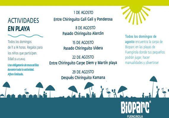 Actividades gratis para niños en la playa con Bioparc Fuengirola