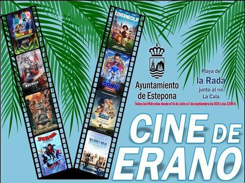 Cine de Verano gratis en Estepona para toda la familia