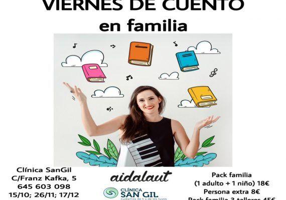 Cantacuentos infantiles en la Clínica San Gil de Teatinos, Málaga